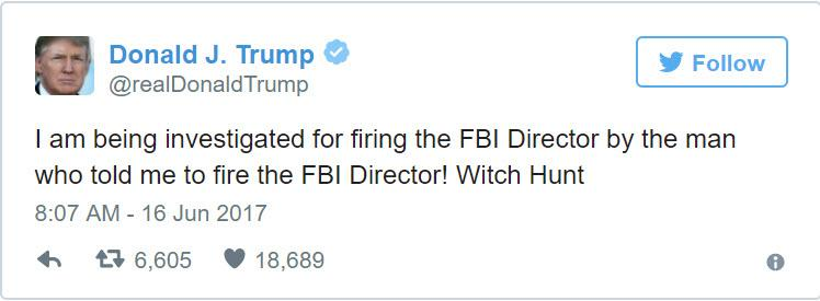 trump tweet investigated