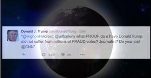 trump twitter earth